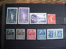 lot de timbres France neuf *avec faibles traces de charnières  cote 116 euro