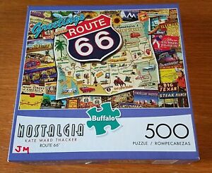 "Buffalo Puzzle ""Route 66"" 500 Piece 21"" x 15"""