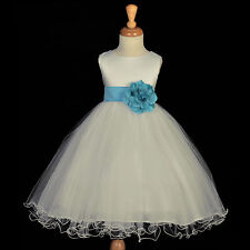 PAGEANT DRESS FLOWER GIRL RECITAL RECEPTION TODDLER JUNIOR FORMAL WEDDING CHILD