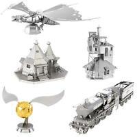 Set of 5 Fascinations Metal Earth HARRY POTTER 3D Laser Cut Steel Model Kits
