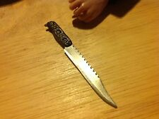 1:6 Scale Hand Crafted Miniature Steel Tactical Combat Knife #4 By Auret