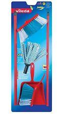 Theo Klein Toy Vileda Mop Dustpan and Brush Set - childrens kitchen mop & brush