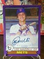 LEE MAZZILLI 2020 Topps Archives Baseball #045/150 PURPLE AUTO Fan Favorite METS