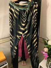 camilla silk pants zebra animal print vintage size 2