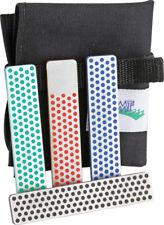 DMT Diamond Whetstone Kit W4K Includes blue coarse grit 325 mesh, green extra fi