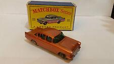 MATCHBOX LESNEY#22b 1958 VAUXHALL CRESTA - Gray Plastic Wheels - NMIB  RARE Gold