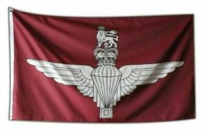 PARACHUTE REGIMENT FLAG 5' x 3' The Paras Army Ulster Loyalist Lest We Forget