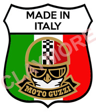Moto Guzzi Italian Car Sticker Italy Custom Rally motorcycle tank faring biker