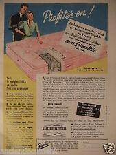 PUBLICITÉ 1953 TRÉCA LE SEUL MATELAS LUXUEUX A SUSPENSION PULLMAN - ADVERTISING