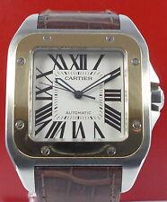 CARTIER SANTOS 100 STAHL-GOLD Herren Automatik Armbanduhr von ca. 2004 Jubiläum