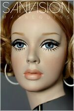Rare Vintage Rootstein Mannequin Head Candy In Twiggy Makeup Young Girl Manga