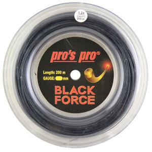 Pro's Pro Black Force - 1.24mm  - Tennis - String - Reel - 200m - Free UK P&P