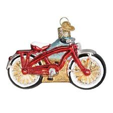 CRUISER BIKE OLD-FASHIONED BICYCLE OLD WORLD CHRISTMAS GLASS ORNAMENT NWT 46063