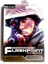 Operation Flashpoint Cold War Crisis PC Completo Retro Videogame Mint Condition