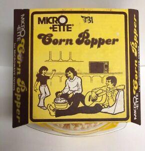 Vintage Micro Ette Corn Popper NEW Old Stock Microwave Popper No.498