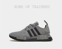 3c290fc362ef1 adidas Originals NMD R1 Junior Grey Black Unisex Trainers All Sizes