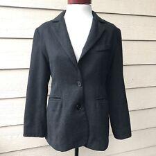 Bloomingdale's Dark Gray Blazer Jacket Pockets Lined Women's Petites Sz 8