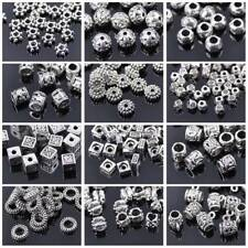 50 Stück Tibetische Silber lose Metallperlen Spacer Perlen 4~9mm 50 Stile