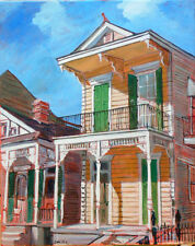 """TIM LAUER, ART, Spain St., New Orleans, Acrylic painting, 20"""" x 16"""""""