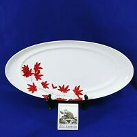 """Mikasa Serving Platter Tray Oval Pure Red SL 134 Portugal 18"""""""