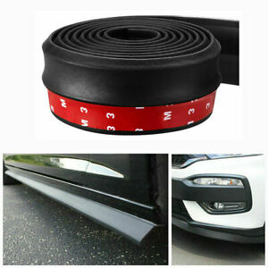 Universal 2.5M Car Lip Skirt Protector Rubber Splitter Front Bumper Spoiler Side