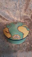 TIFFANY & CO Porcelain Trinket Box TAUCK World Discovery Map 2000