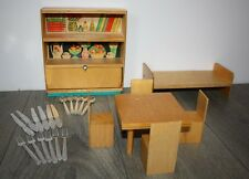 Vintage Russian Set Furniture BED TABLE 4 CHAIRS Shelfs..Wooden children's USSR