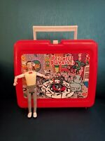 Pee Wee's Playhouse Lunch Box and Pee Wee Poseable Figure!   Vintage
