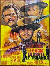 Affiche LE BON, LA BRUTE ET LE TRUAND Clint Eastwood SERGIO LEONE 120x160cm