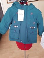 MARKS AND SPENCER KIDS GREEN WATERPROOF JACKET - UK SIZE 6-9 Mnths