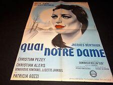 QUAI NOTRE DAME anouk aimee    affiche cinema 1960