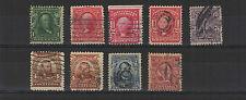 U.S.A. États-Unis 1902-15 9 timbres oblitérés /T1980