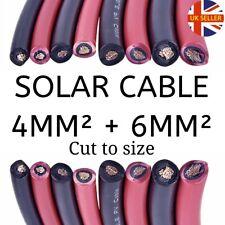 Panel Solar PV cable 4mm²+6mm²+10mm²+16mm² TUV aprobado, de un solo núcleo, Rojo/Negro