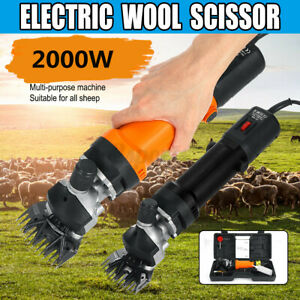 2000W 2400 RPM 6 Adjustable Electric Sheep Goats Shearing Clipper Speed Shears