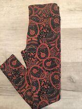 72e39ba9c1d54c New ListingNWOT LuLaRoe OS Black Red Flower Egg Floral Paisley Leggings  Rabbit Faberge. LULAROE OS ONE SIZE ...