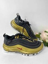 Sneakers Women's Nike Air Max 97 QS Black Leather Low Top Canvas AT5458 002