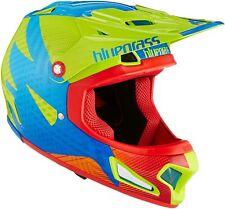Bluegrass Brave Eagle Helm, Fullface BMX Helm, Green/Blue/Orange, S 54-56 cm