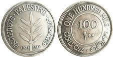 PALESTINE  ,  ISRAEL  ,  100  MILS  ARGENT  1927