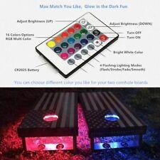 2PCS× LED Cornhole Light Remote Control 16 Colors Corn Hole Bean Bag Toss Baggo
