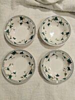 """4 - Noritake Keltcraft Ireland 9180 Ivy Lane Set #4 Soup Cereal Bowls 7"""" RETIRED"""