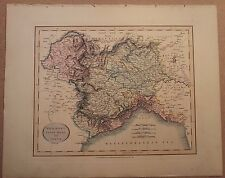 JOHN CARY MAP OF PIEDMONT SAVOY MILAN AND GENOA 1813 FROM New Elementary Atlas