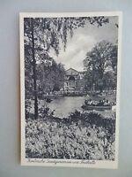 Ansichtskarte Karlsruhe Stadtgartensee und Festhalle