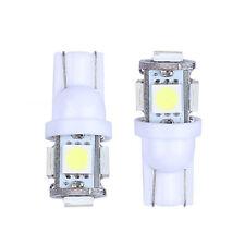 2x T10 5 LED LIGHT 5050 SMD White Wedge Type Parkey Super Bright 12V Globes