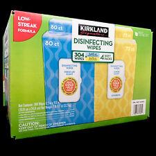 Kirkland Signature Fresh Air & Lemon Scent 304 Cleaning Wipes Packs New Sealed