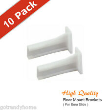 [Pack of 10 Pairs] Epoxy Coated White Euro Drawer Slide Rear Mount Kitchen