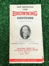 Vintage Browning Shotguns Catalog Manual Pamphlet New Improved 1938 Sweet 16