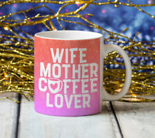WIFE MOTHER COFFEE LOVER Jumbo Big Large 20oz Birthday Valentine Coffee Cup Gift