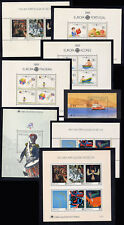 1989 Portugal, Azores, Madeira Complete Year MNH. 8 Souvenir Sheets, Blocks.