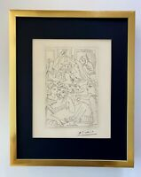 PABLO PICASSO + SIGNED 1962  SUPERB ENGRAVING MATTED 11 X 14 + LIST $795