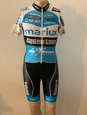 Cycling suit, skinsuit, speedsuit, size XS, blue/ black, almost new, Lycra